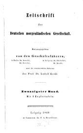 Zeitschrift der Deutschen Morgenländischen Gesellschaft: ZDMG, Band 20