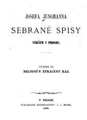 Josefa Jungmanna Sebrané drobné spisy: Miltonův Ztracený ráj