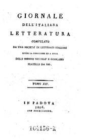 Giornale dell'Italiana letteratura: Volume 14