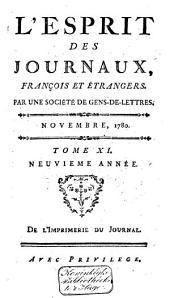 L'Esprit des journaux franc̜ais et étrangers: Volume81