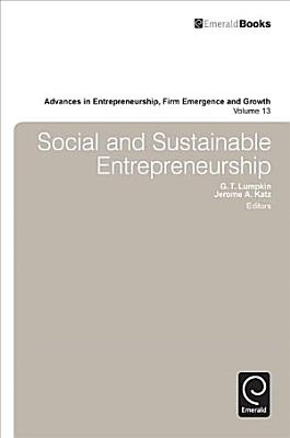 Social and Sustainable Entrepreneurship