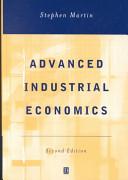 Advanced Industrial Economics PDF