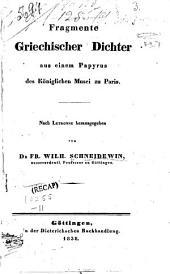 Fragmente griech: Dichter aus einem Papyrus des kgl. Musei zu Paris