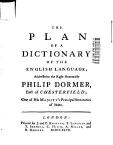 The Plan of a Dictionary of the English Language PDF