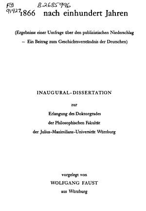 1866 nach einhundert Jahren PDF