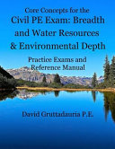 Civil PE Exam Breadth and Water Resources and Environmental Depth