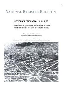 Historic Residential Suburbs
