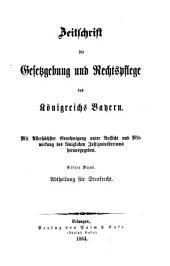 Zeitschrift für Gesetzgebung und Rechtspflege des Königreichs Bayern: Band 11