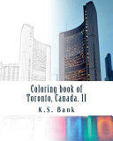 Coloring Book of Toronto  Canada