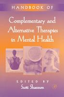 Handbook of Complementary and Alternative Therapies in Mental Health PDF