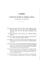 Carteggio raccolto e pubblicato da Emanno Ferrero e Giuseppe Miller