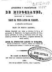 Aforismos y pronósticos de Hipocrates