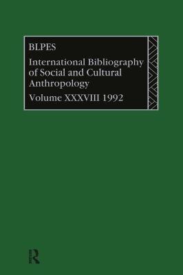 Bibliographie Internationale D anthropologie Sociale Et Culturelle 1992 PDF