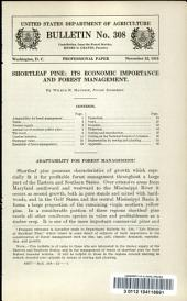 Shortleaf pine: its economic importance and forest management