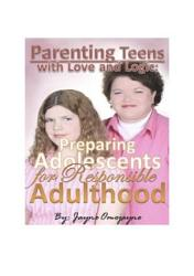 Parenting Teens With Love And Logic Preparing Adolescents For Responsible Adulthood Book PDF