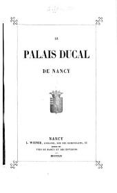 Le Palais ducal de Nancy