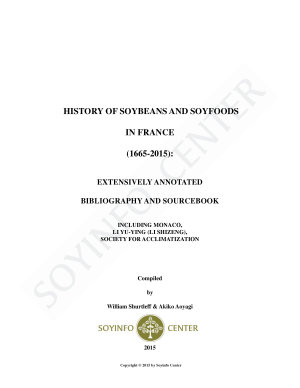 History of Soybeans and Soyfoods in France  1665 2015  PDF