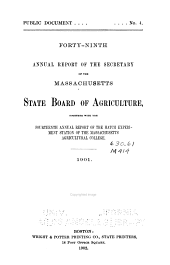 Annual Report of the Secretary of the Massachusetts State Board of Agriculture