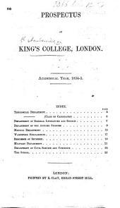 Prospectus ... 1854-5 (1859).