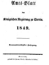 Amtsblatt der Regierung in Stettin: 1849