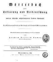 Wörterbuch zur Erklärung und Verdeutschung der unserer Sprache aufgedrungenen fremden Ausdrücke