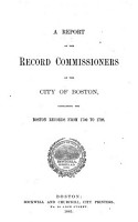 Records Relating to the Early History of Boston     PDF