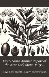 First- Ninth annual report of the New York State dairy commissioner ...