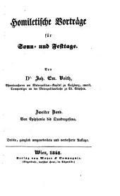 Homiletische Vorträge für Sonn- und Festtage. 3. ganz umgearb. und verb. Aufl. - Wien, Mayer 1846-55