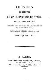 Oeuvres complètes: De la littérature, Volume4