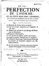 De la perfection de l'homme...Par M. ch. Sorel...