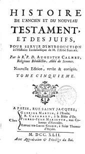 Histoire de l ́Ancient et du Nouveau Testament et des Juifs