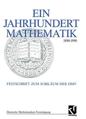 Ein Jahrhundert Mathematik 1890     1990 PDF