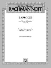 Rhapsody, Op. 43, on a Theme by Paganini (Abridged Arrangement): Advanced Piano Duo (2 Pianos, 4 Hands)
