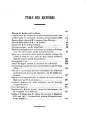 Mémoires de l'Académie de Savoie: Volume8