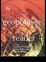 The Geopolitics Reader PDF