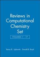 Reviews in Computational Chemistry  Volumes 1   17 Set PDF