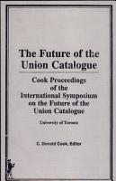 Future of the Union Catalogue PDF