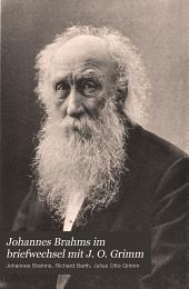 Johannes Brahms im briefwechsel mit J. O. Grimm