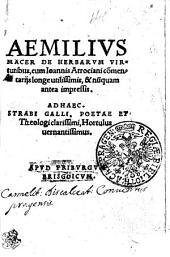 Aemilivs Macer De Herbarvm Virtutibus