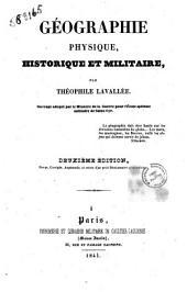 Géographie physique, historique et militaire par Théophile Lavallée