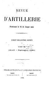 Revue d'artillerie: Volume44