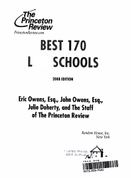 Best 170 Law Schools 2008 Book PDF