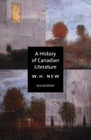 A History of Canadian Literature PDF