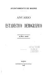 Anuario estadistico demografico