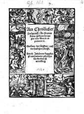 Ain Christlicher Sendprieff, An Frauw Anna, geborne Hertzogin von Stettin in Pommern etc., Summa der seligkait, auß der hailigen schrifft