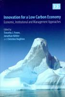 Innovation for a Low Carbon Economy PDF