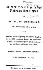 Zur dritten Secularfeier des Reformationsfestes, etc. [An essay on the improvement of the German language by Martin Luther.]