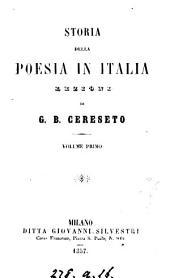 Storia Della Poesia in Italia: Lezioni, Volume 3