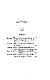 Essays Biographical, Critical, and Historical: Illustrative of the Tatler, Spectator, and Guardian