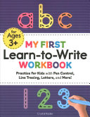 My First Learn to Write Workbook Book